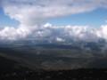 [美瑛][十勝岳]  富良野市街に浮かぶ雲
