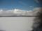 凍結した大沼のむこうに望む駒ヶ岳
