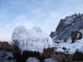 [小樽] 凍結した波のオブジェ(この画像はフィクションです)