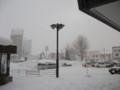 [滝川] 滝川駅は吹雪