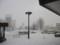 滝川駅は吹雪