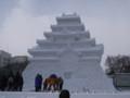 [札幌] 雪まつり2012 8丁目大雪像 会津鶴ヶ城(onちゃん記念撮影実施中)