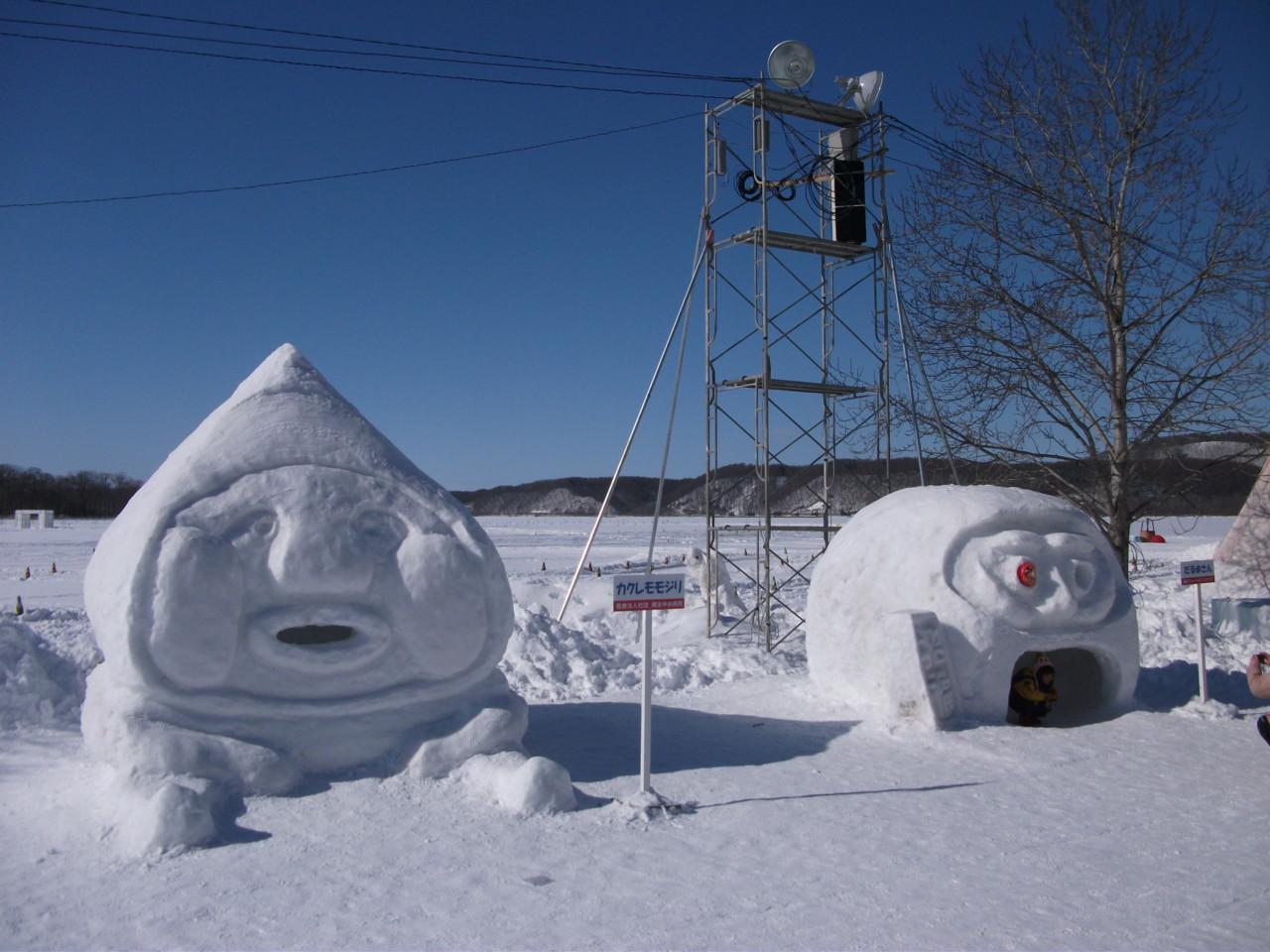 こびと雪像