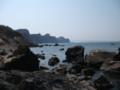 [小樽] 西側の海岸線(竜宮閣跡遠望)