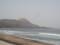 海岸から恵山を遠望