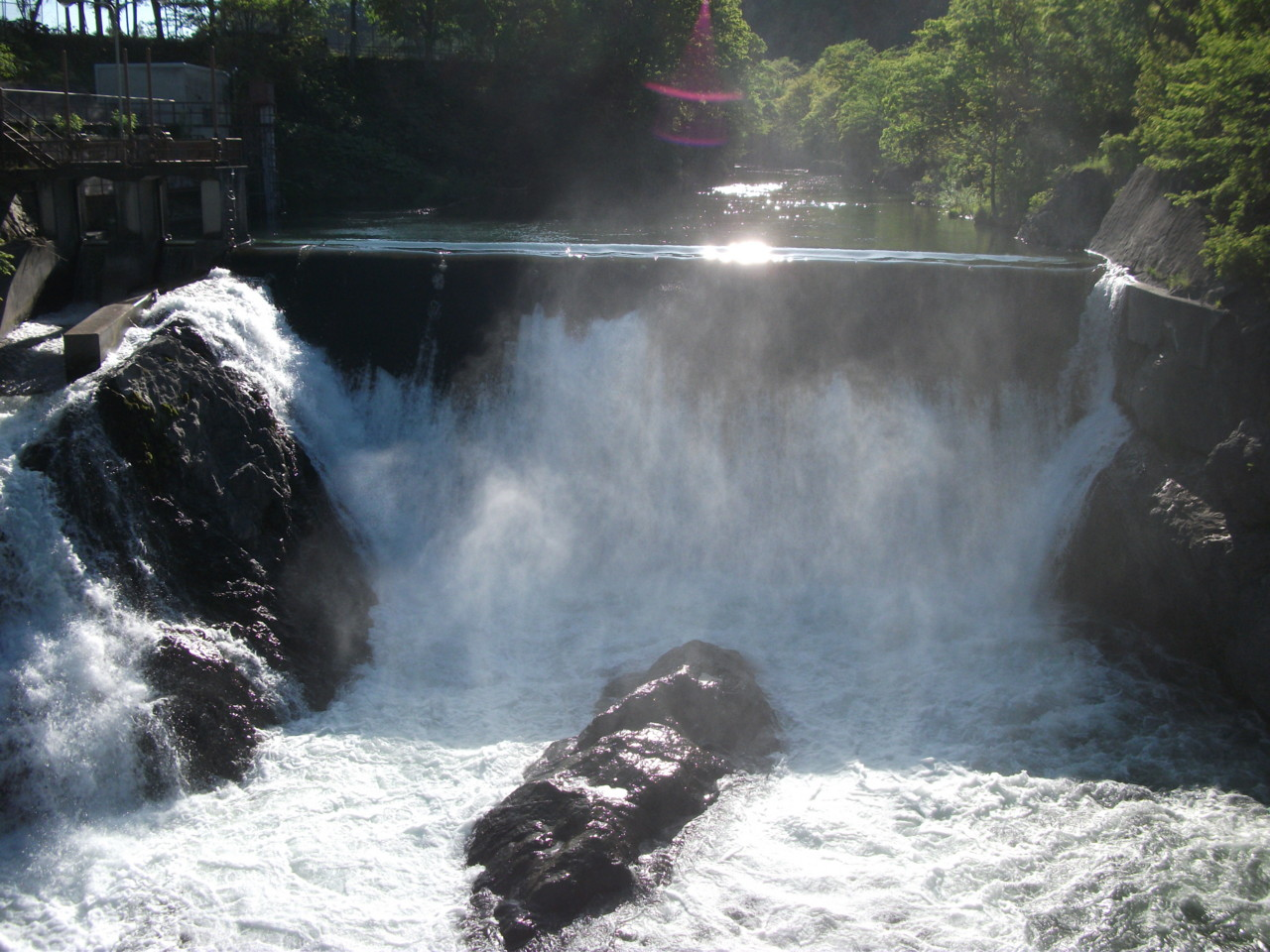 滝上渓谷 錦仙峡 洛陽の滝