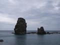 [奥尻] カブト岩