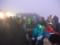 夜明け直前の山頂広場のようす