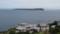 天売港裏の高台から見る焼尻島