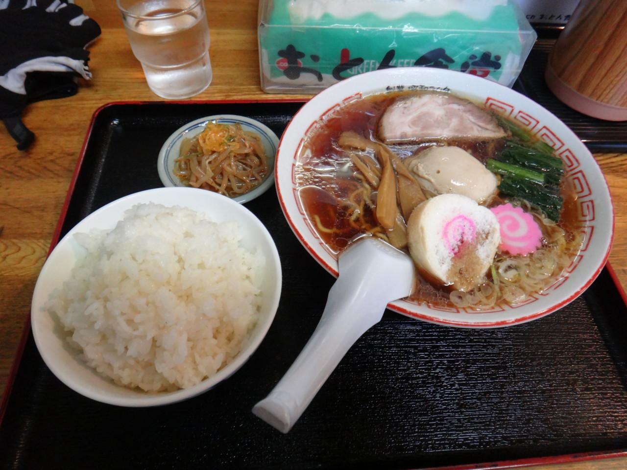 小鳩ラーメン+小ライス@おとん食堂