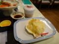 [東川][温泉][宿飯] 後出し2・茶碗蒸し+ホタテとじゃがいものクリーム焼き