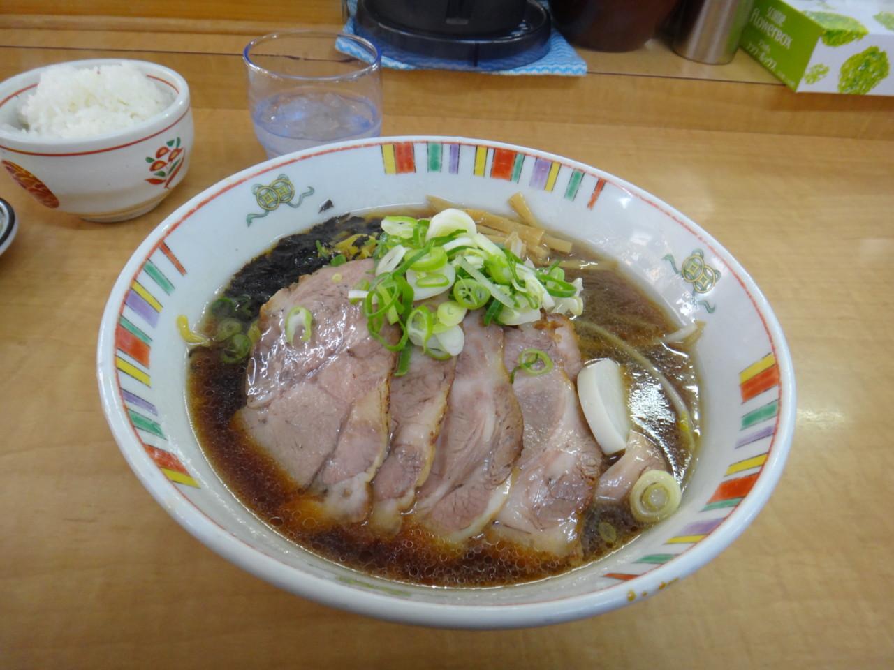 麺屋 彩未 しょうゆチャーシュー+ライス