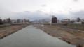 [札幌] 豊平川@雪解け水で増水中