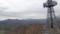 鉄塔裏に手稲山、正面余市岳、左側定山渓周辺の山々