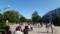 人があふれる中島公園