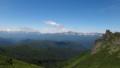[上士幌][ニペソツ山] 前天狗手前から見る大雪山と十勝岳連峰