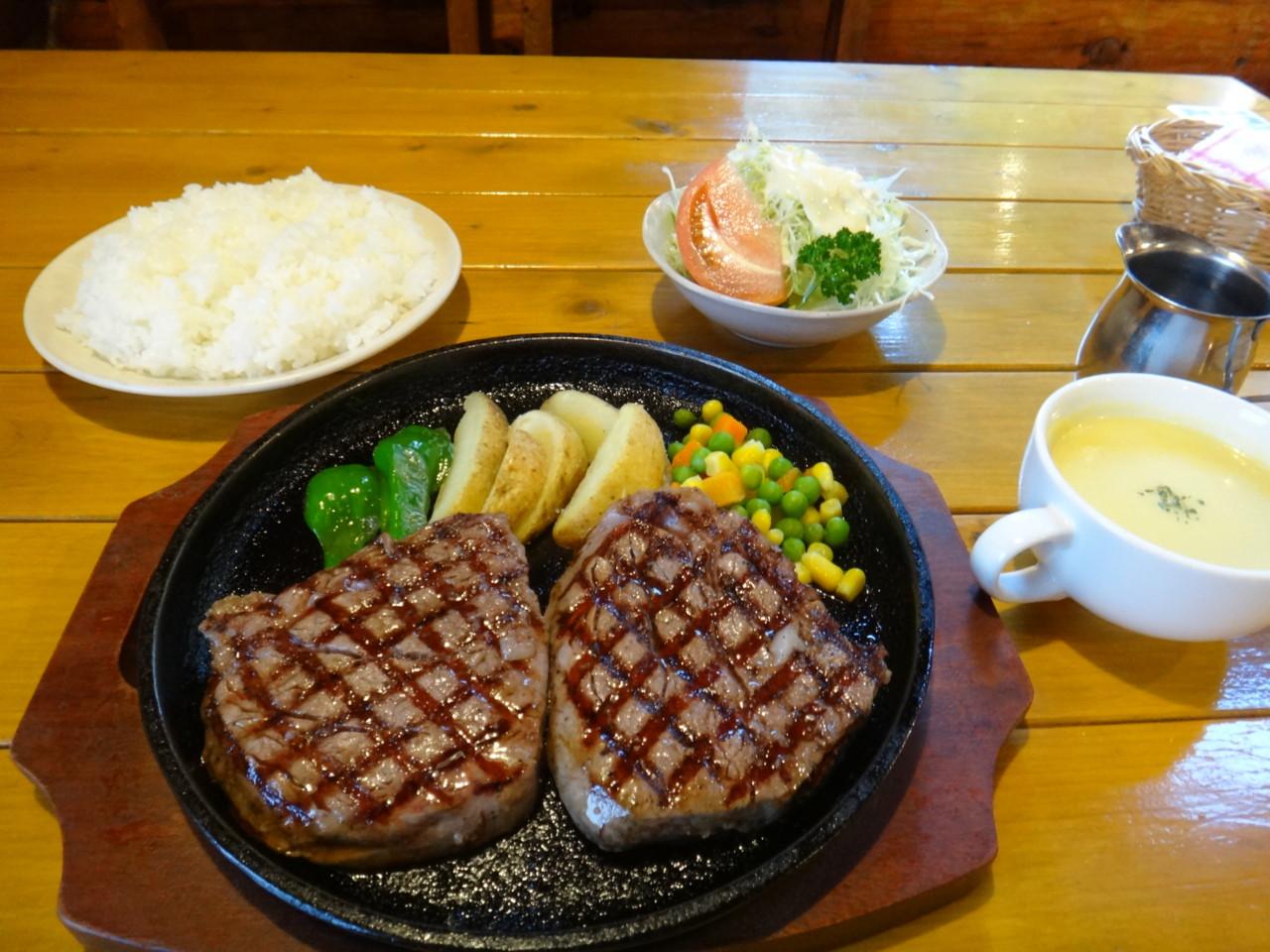 カントリーライフ 清水産牛ヒレステーキセット(240g) ライス大盛り