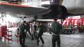 [千歳][千歳基地航空祭2013] ガイドレバーをアダプタに通す