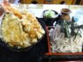 [札幌][そば][丼] そば処 芝源 そば定食F(天丼+ざるそば)