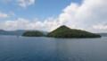 [洞爺湖] 中島を出港