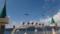 船といっしょに移動するカモメの群れ