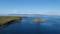 ポンモシリ島と礼文島@夕日が丘展望台