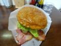 [足寄] ウッディーベル 十勝チーズベーコンエッグバーガー アメリカンサイズ