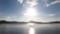 東岸から見る屈斜路湖の朝日