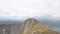 アトサヌプリ(硫黄山)、奥にうっすら屈斜路湖@山頂