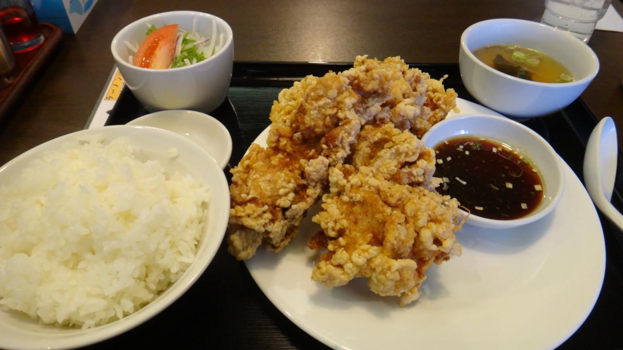 味の時計台 江別野幌店 ランチセットA(ジャンボ唐揚げセット)