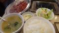 [帯広][焼肉] 平和園 カルビ定食+サガリ