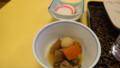 [弟子屈][温泉][宿飯]後出し2・うま煮、紅白かまぼこ、伊達巻き