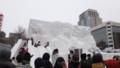 [札幌][さっぽろ雪まつり2014] 7丁目会場 大雪像 ♡すべてにLOVEを♡