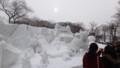 [札幌][さっぽろ雪まつり2014] 9丁目会場 中雪像 桃太郎