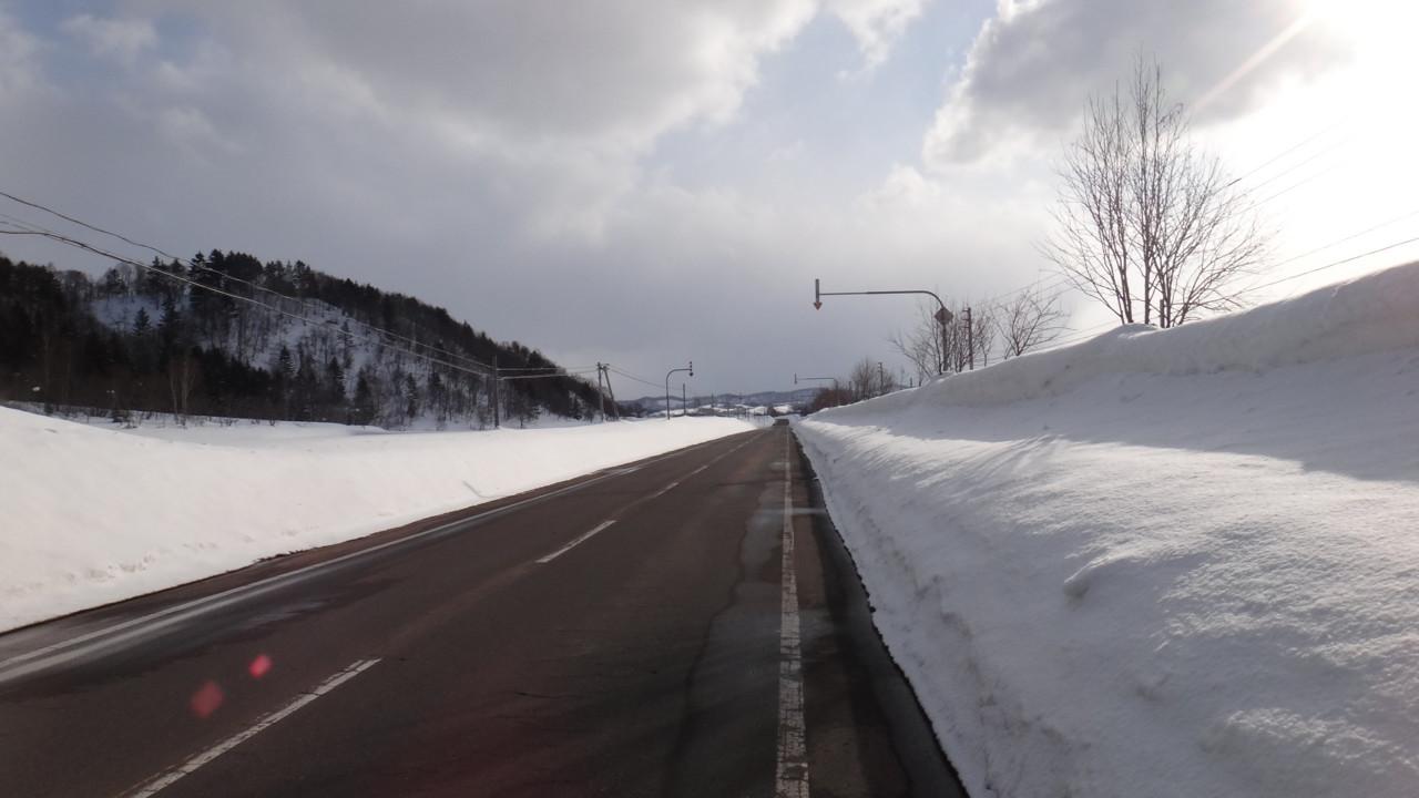 恵比島駅へ続く道
