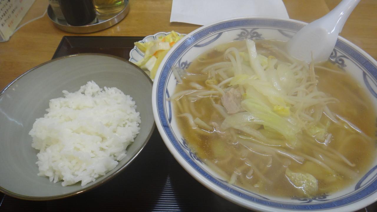五十番菜館 野菜ラーメン・しょうゆ+小ライス