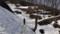 馬の背付近から残雪