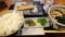 焼鮭朝食@うどん屋