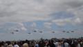 [札幌][航空ページェント2014] ヘリ編隊が上空通過