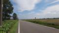 [新篠津] 田園地帯をまっすぐ進む道