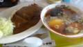 [三笠][食堂] みつい食堂 カツカレー&しょうゆミニ