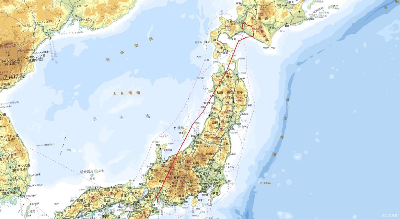 中部国際→新千歳航路