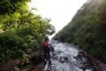[清里][斜里岳] 滝を登る