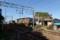 線路脇に漁師小屋