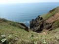 [釧路町]切れ落ちた断崖