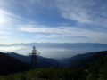 [長野][木曽駒ケ岳]富士山を遠望
