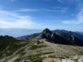 [長野][木曽駒ケ岳]中岳から見る宝剣岳