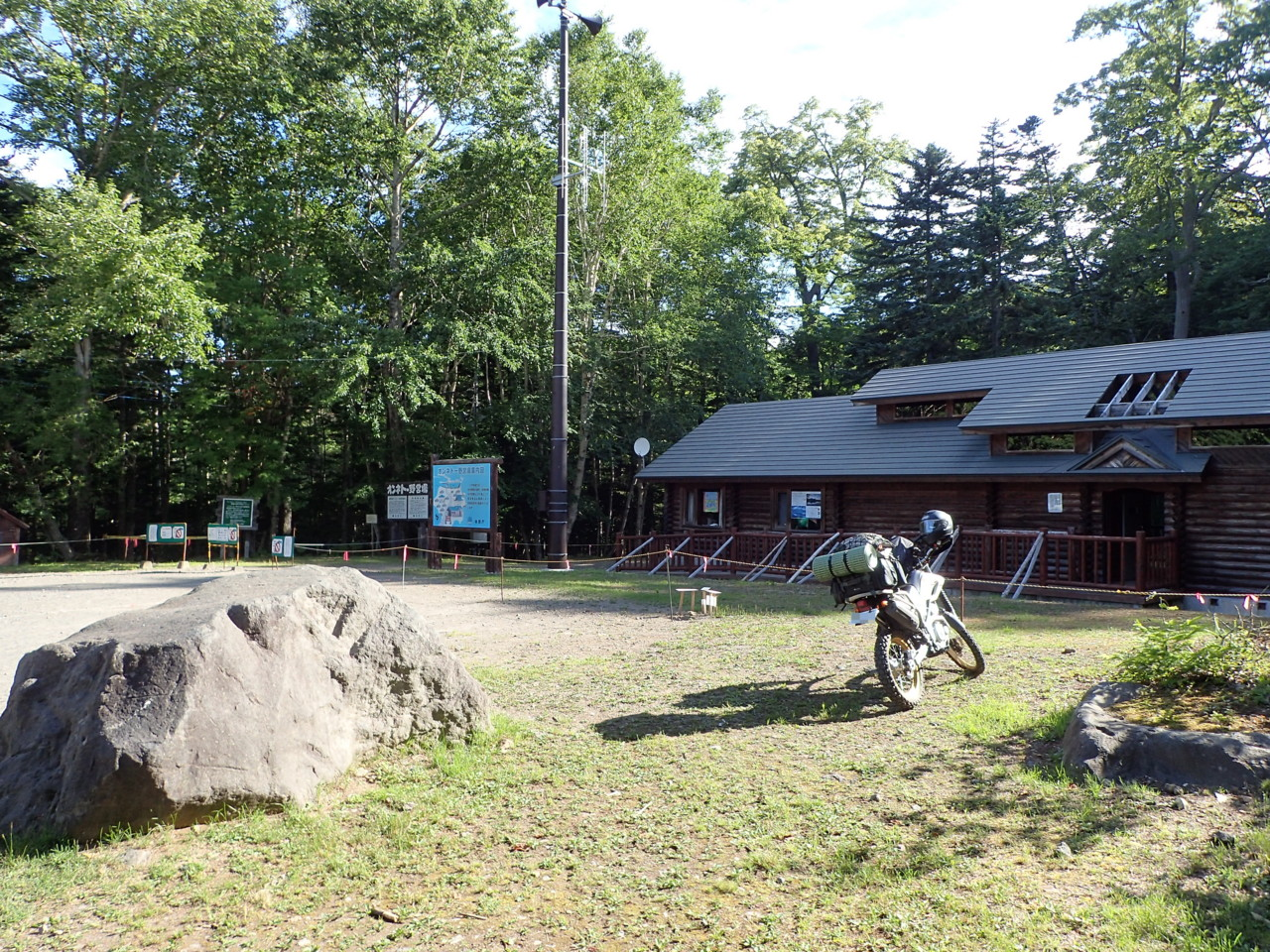 朝の野営場