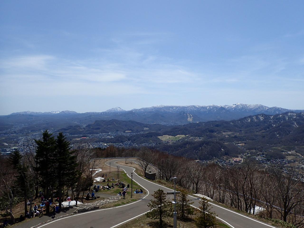 支笏湖の山々・空沼岳・札幌岳