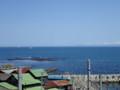 [小樽]増毛連山に消えゆく客船